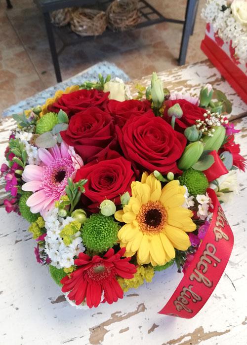 Blumen in der Box zum Muttertag