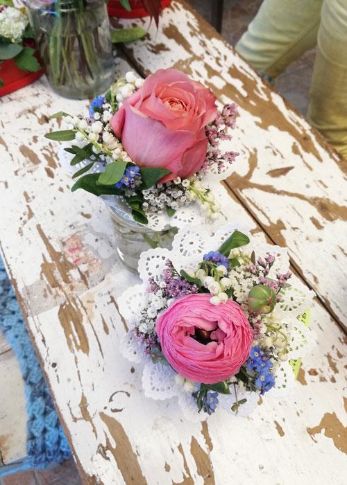 kleine Blumensträuße zum Muttertag